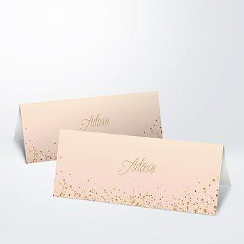 Tischkarten Hochzeit  aus Vorlagen gestalten