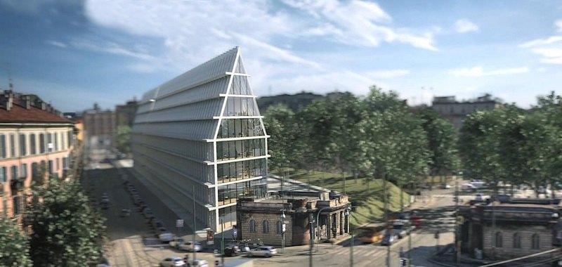 Milano in Porta Volta spunta una piramide  Attualit
