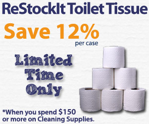 Save 12% on Toilet Tissue when you spend $150 or more on Cleaning Supplies