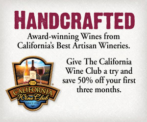 Award-winning Wines from the Best Artisan Wineries in California. Give the California Wine Club a try and save 50% off your first three months.