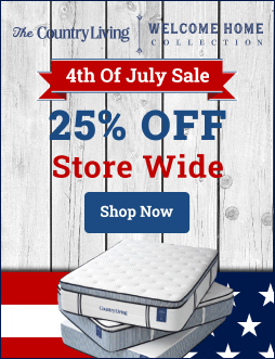 President's Day Sale! Save 20% on all mattresses at SleepCountryLiving.com! Made in USA, 18-month sleep trial, LIFETIME WARRANTY + Free Shipping AND Returns! Hurry! Offer ends soon. Click here.