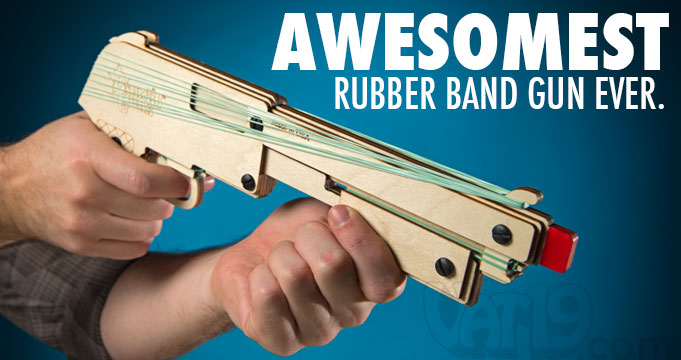 Create your own wooden rubber band gun with the DIY Bandit Rubber Band Shotgun.