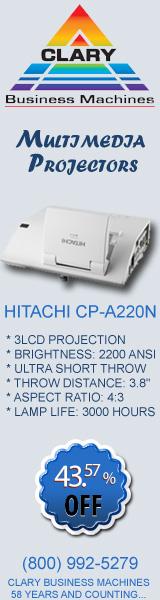 Hitachi CP-A220N Ultra Short Throw Multimedia Projector