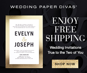 Wedding Paper Divas 15% off $75+ 300x250