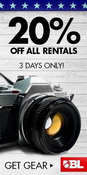 Get 20% Off All Rentals NOW