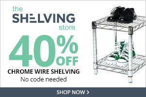 40% Off Chrome Wire Shelving at TheShelvingStore.com