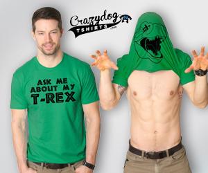 Funny Trex Flip Shirt