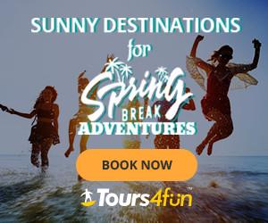 Spring Break Tours! - Up to 15% off through 3/8 at Tours4fun.com!