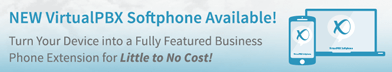Turn your device into a full featured business phone extension for little to no cost! Click here to learn more.