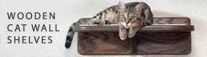 Wooden Cat Wall Shelves