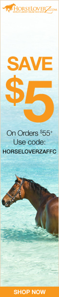 $5 Off $55+ at HorseLoverZ.com! Use code HORSELOVERZAFFC through 10/31/16.