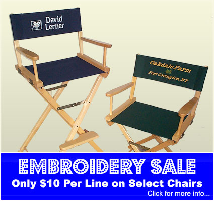 Save Now on Personalized Director's Chairs