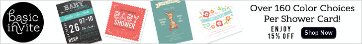Save 15% On Your Baby Shower Invitations from BasicInvite