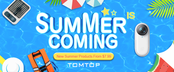 New Summer Product from $7.99 @ tomtop.com