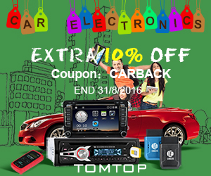 Up to 65% OFF + Extra 10% OFF Car Electronics(Code: CARBACK), Ends: Aug 31