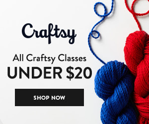 All Craftsy Classes Under $20 at Craftsy.com 7/6-7/8/18. No coupon code needed.