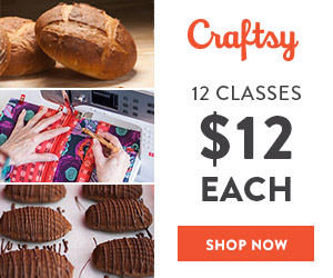 12 Classes for $12 Each at Craftsy.com 8/12/18 only.
