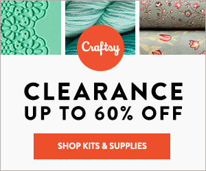 Clearance Flash Sale - Shop Up To 60% Off Kits & Supplies Now! Valid 4/26/18 only at Craftsy.com, no coupon code needed.