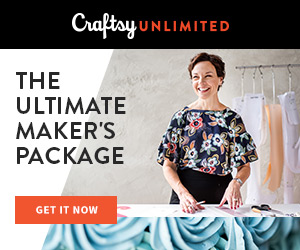 The Ultimate Makers Package - Only $120 at Craftsy.com! For only $120, get a year's subscription to Craftsy Unlimited, an exclusive coupon to spend on your favorite supplies, plus all the perks you could want (hint: free shipping on our orders!).