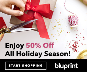 Enjoy 50% Off All Holiday Season! Sign up for a Bluprint subscription today, and we'll automatically take 50% off the full price of your Craftsy items every time you shop from now until December 31. Offer valid at myBluprint.com through 12/25/18.