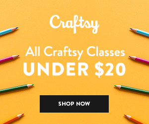 All Craftsy Classes Under $20 at Craftsy.com 8/17-8/19/18. No coupon code needed.