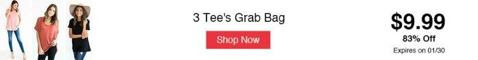 3 Tee's Grab Bag