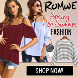 Shop ROMWE for the lastest in Spring and Summer fashion
