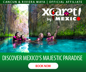 Xcaret Eco Park mexican Culture, Folklore and Typical Flavors, Underground rivers at Cancun and Riviera Maya.