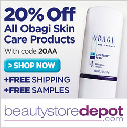 20% off all OBAGI skin care products