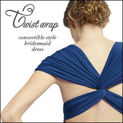 dessy, wrap dress, twist