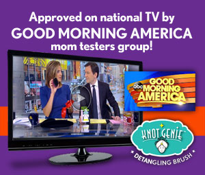 Good Morning America Mom Testers gave Knot Genie a 100% thumbs up!