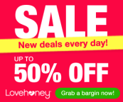 Sale! Up to 50% off!
