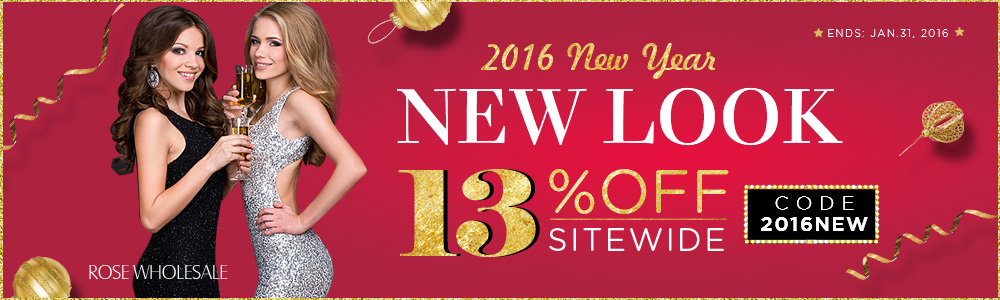 2016 New Year Sale: 13% OFF Sitewide