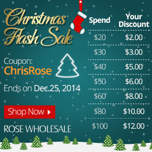 Christmas Flash Sale! Coupon Code: ChrisRose (Ends: Dec.25, 2014)