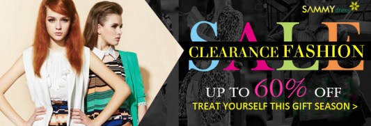 Clearance Fashion Sale: Up to 60% OFF. Here is lots of clearance for you to choose. Come and treat yourself this gift season.