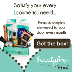 Satisfy your every cosmetic need with premium beauty product samples delivered to your door every month from Beauty Box 5. Get the box!