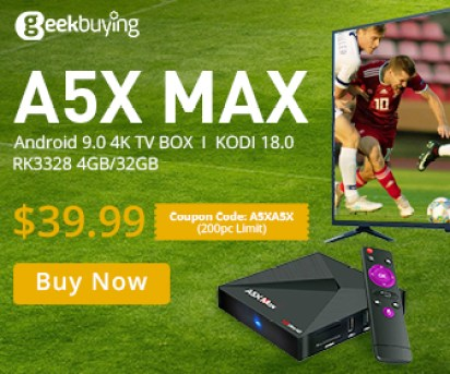 ONLY $39.99 for A5X MAX with the coupon A5XA5X