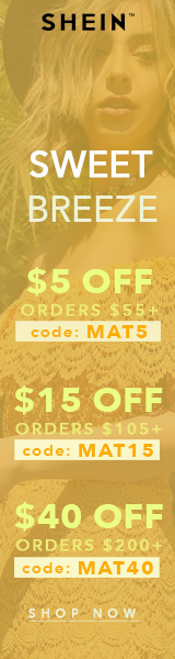 Enjoy $40 off orders $200+ with coupon code MAT40 at SheIn.com! Ends 3/20