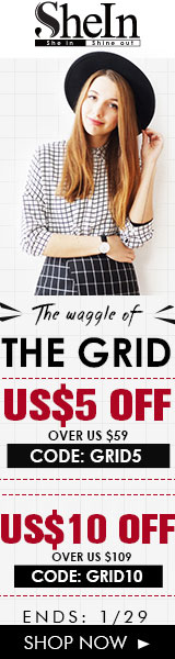 Save up to $10 off grid styles at SheIn.com! Sale ends 1/29