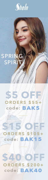 Enjoy $40 off orders $200+ with coupon code BAK40 at SheIn.com! Ends 3/6