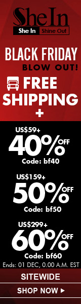 Save up to 60% off on Black Friday at SheIn.com!