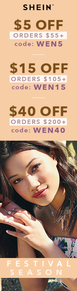 Enjoy $40 off orders $200+ with coupon code WEN40 at us.SheIn.com! Ends 3/13