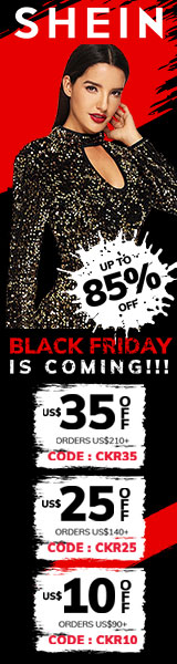 Black Friday is Coming - Save $35 off $210 at www.SheIn.com with code CKR35 Offer Expires - 11/26