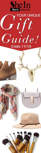 Shop our unique Gift Guide at SheIn.com! Ends 11/19