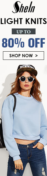Light Knits Sale.  Items up to 80% off at SheIn.com! Ends 9/19
