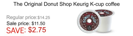 Donut Shop Kcup coffee Black Friday sale
