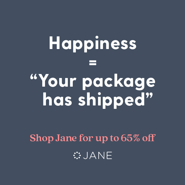 "Happiness = ""Your package has shipped"""