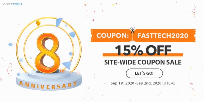 FastTech 8th Anniversary: 15% off Site-Wide Sale