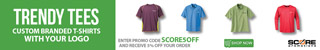 Score Promotions - Shirts Banners