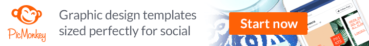 Graphic design templates sized just for social. Take PicMonkey's ad-vice.